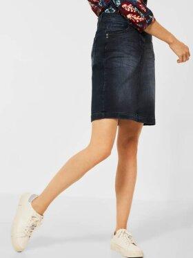 Cecil - Style Denim Skirt Blue Black